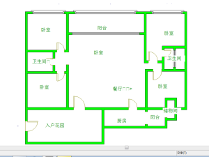 水岸新都一期 4室2厅 162.49㎡ 精装_水岸新都一期二手房户型图片4