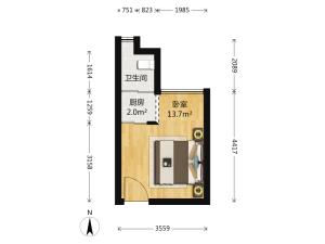 蓝堡公寓 1室0厅 26㎡深圳罗湖区布心二手房图片