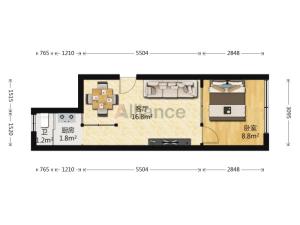高发公寓 1室1厅 36.49㎡深圳南山区华侨城二手房图片