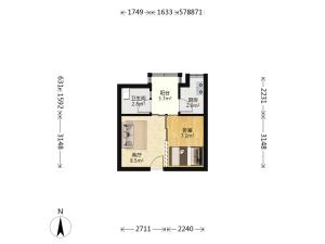 东门168 1室1厅 31.92㎡_深圳罗湖区螺岭二手房图片