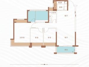 深圳丁山河畔新房楼盘户型图84