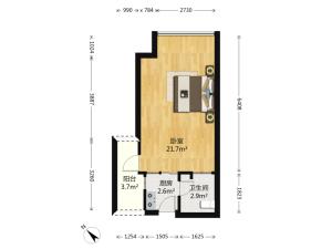 新一代国际公寓 1室1厅 36.19㎡ 简装深圳南山区后海二手房图片